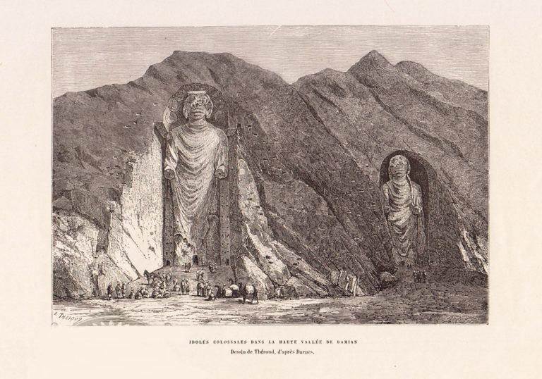Статуи Будды в Бамиане. 1881
