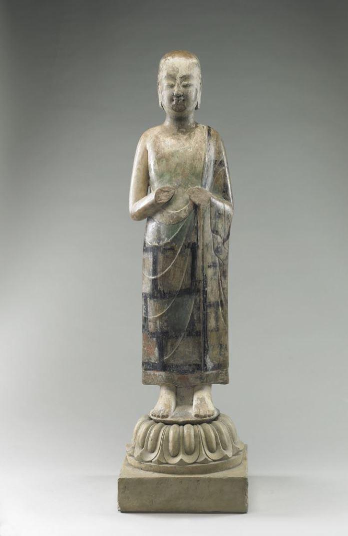 Стоящий монах. Китай, 570 г.