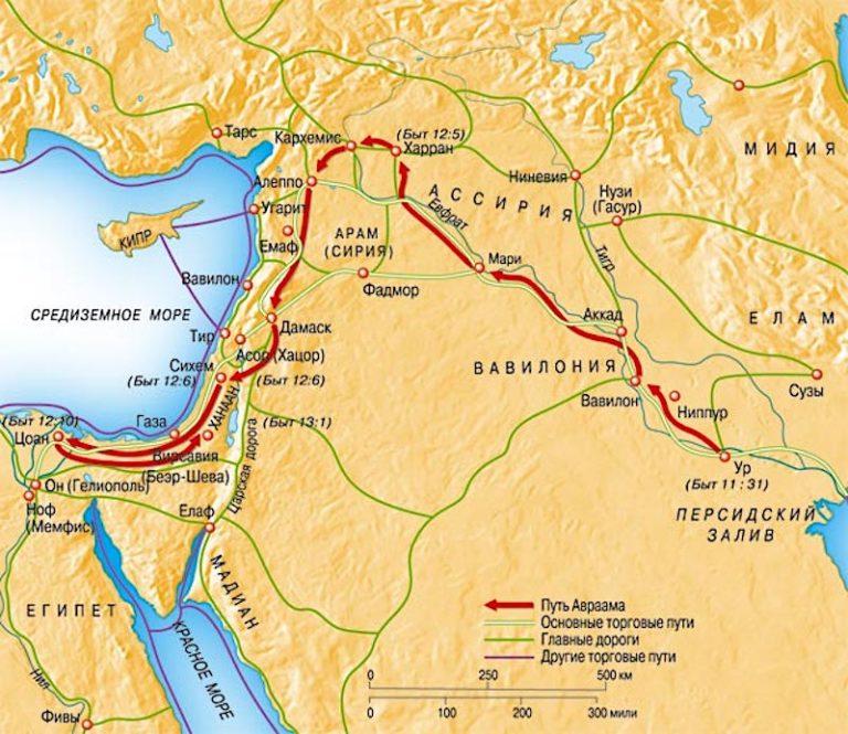 Странствия Авраама. Исход из Египта