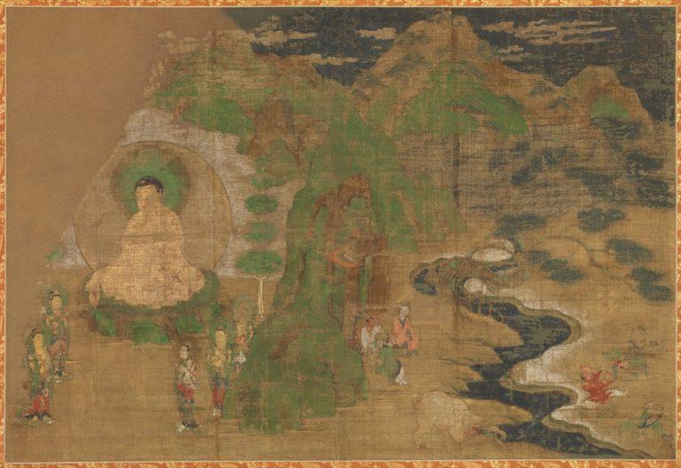 Сцена из жизни Будды. Покорение демонов. Япония, XV в.