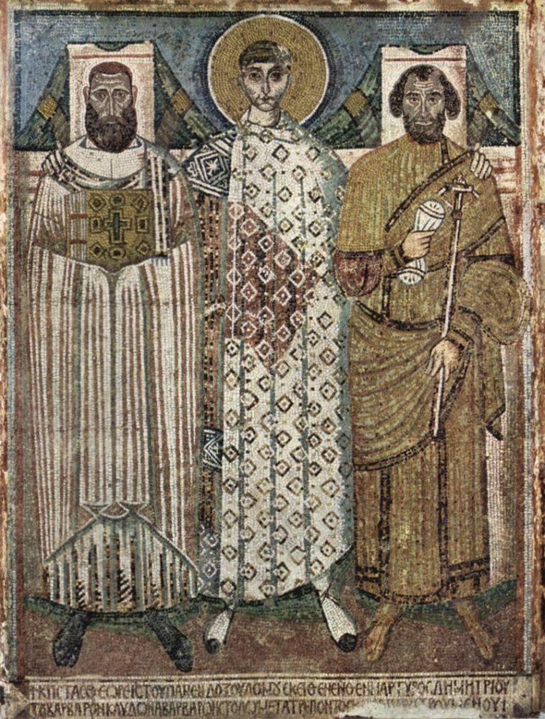 Св. Димитрий с епископом и ктитором. VI в.