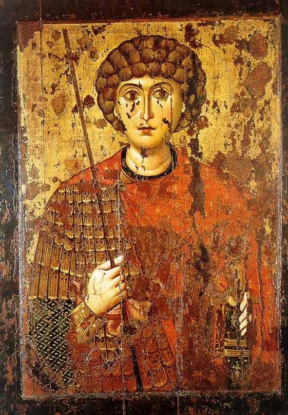 Св. Георгий Победоносец. Икона 2-й пол. XI в.