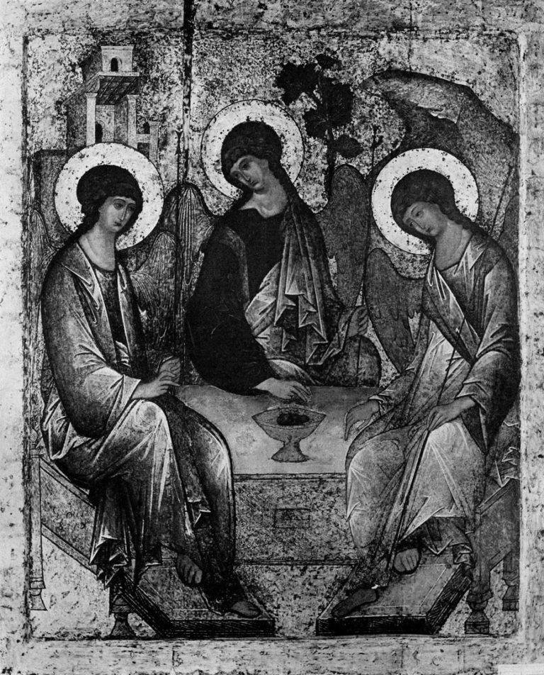 Св. Троица работы Андрея Рублева после реставрации 1904-1905 гг.