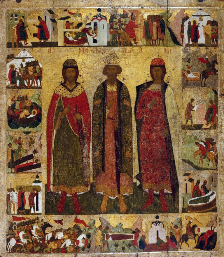 Свв. Владимир, Борис и Глеб. Первая треть XVI в.