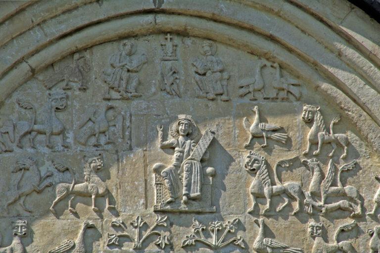 Царь Давид. Дмитровский собор. 1194—1197 гг.