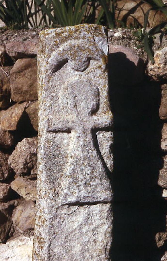 Сакральный символ богини Танит (Таннита) на стелле из Карфагена