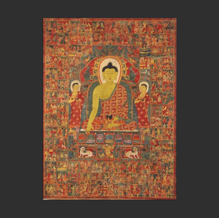 Танка Будды из Джатаки. XIII-XIV вв. Тибет