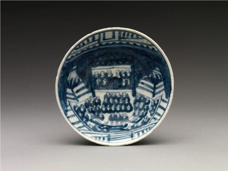 Тарелка с изображением буддийского собора. 1620–1627 гг. Китай