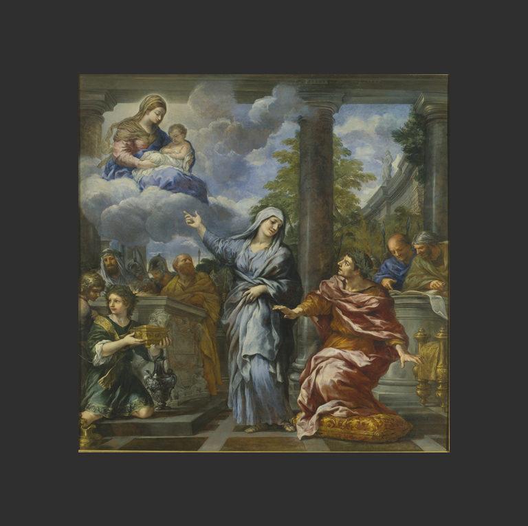 Тибуртинская сивилла показывает Августу пришествие Христа. XVII в.