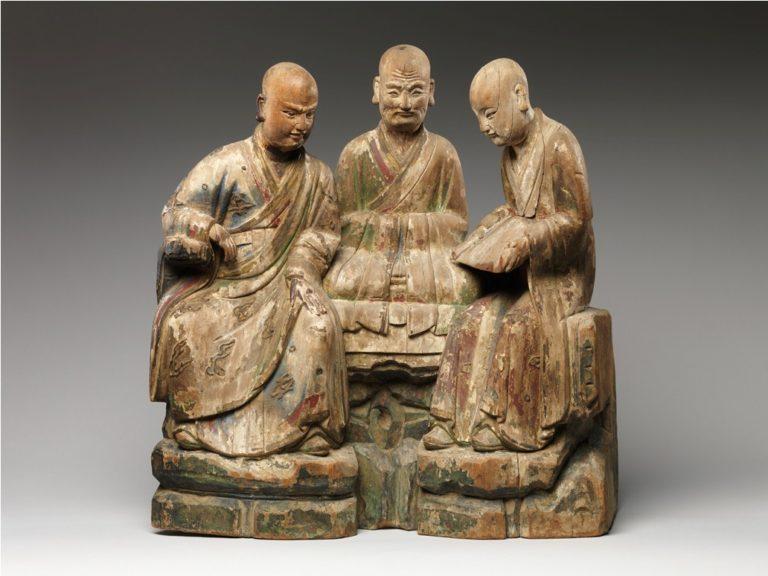 Три архата. XVI–XVII вв. Китай