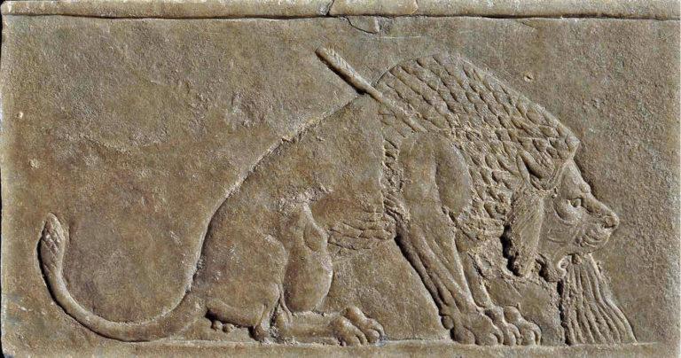 Умирающий лев. 645-640 гг. до н.э.