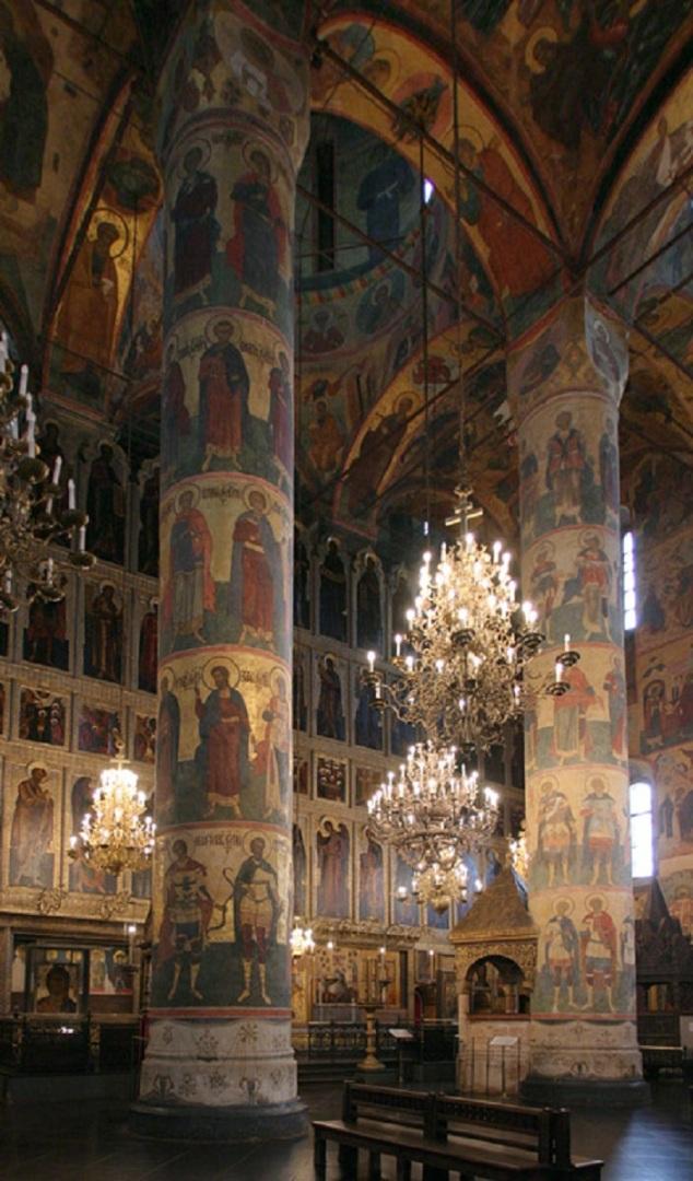 Успенский собор Московского Кремля. Интерьер
