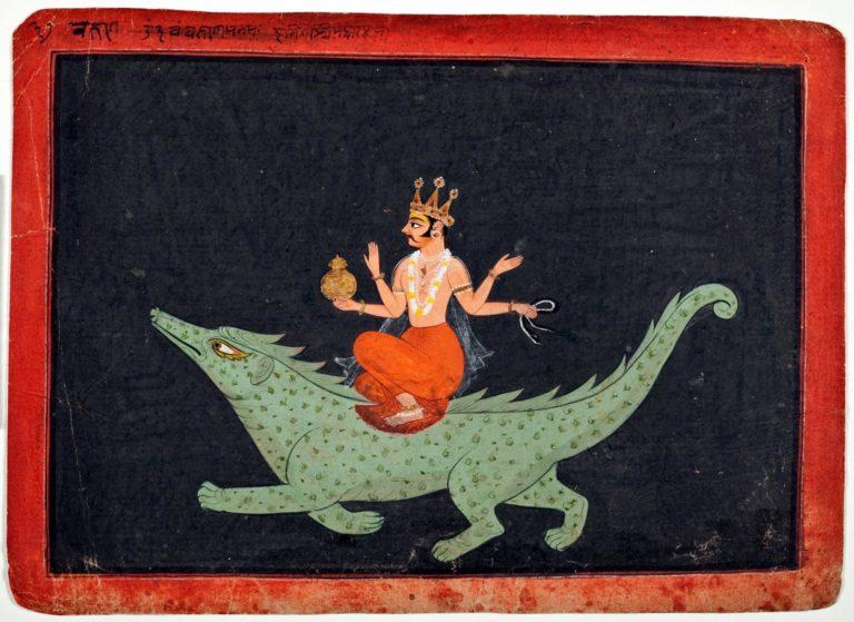 Варуна верхом на Макаре. 1675—1700 гг.
