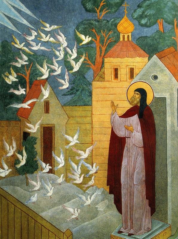 Видение птиц преподобному Сергию