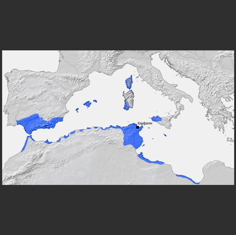 Владения Карфагена до начала Пунических войн