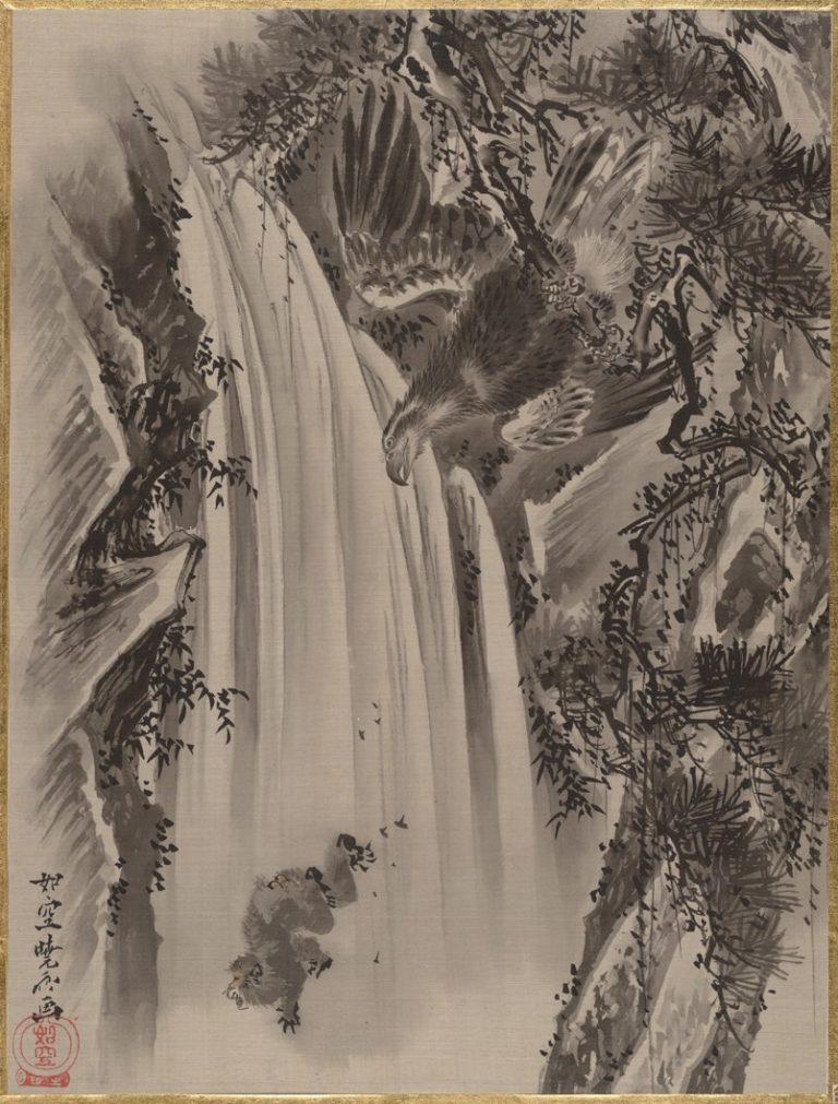 Водопад, орел и обезьяна