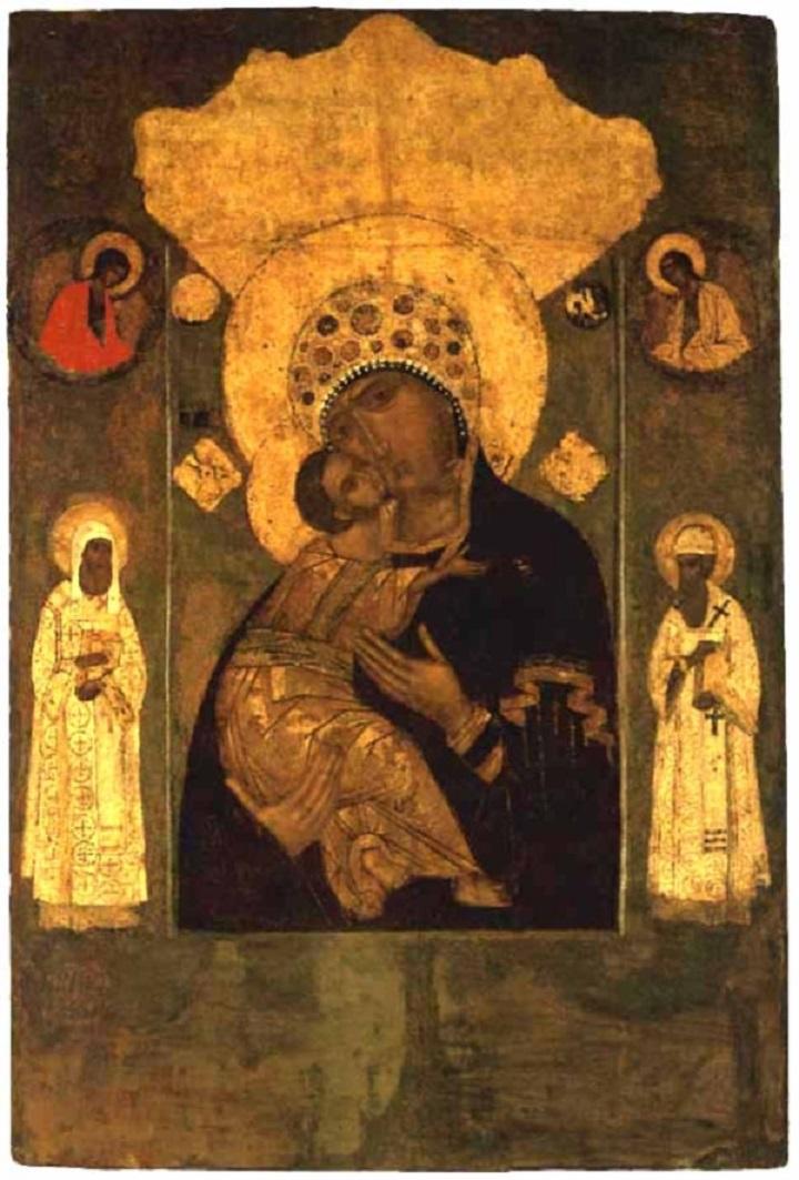Волоколамская икона Богоматери. XVI в.