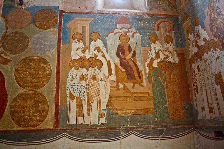 Вселенский собор. Фреска. 1502