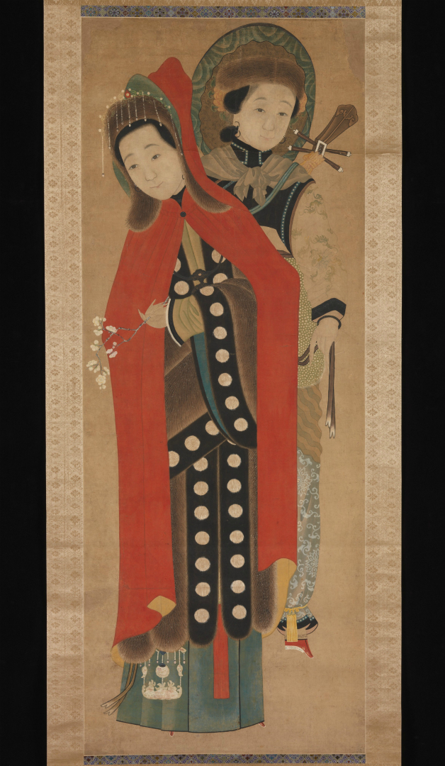 Женщина со служанкой. Китай, XIX в.