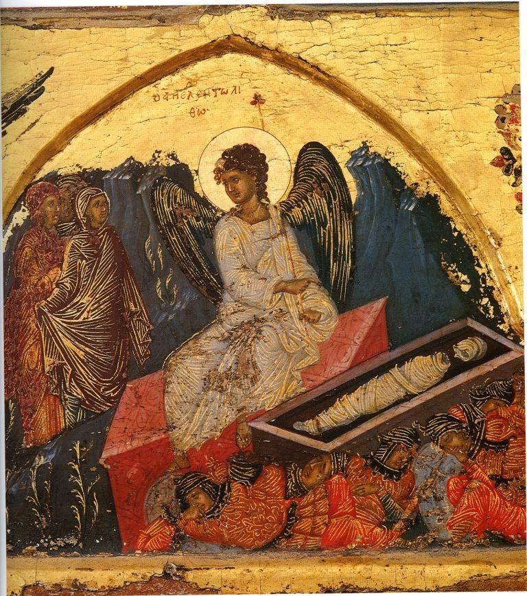 Жены-мироносицы у гроба