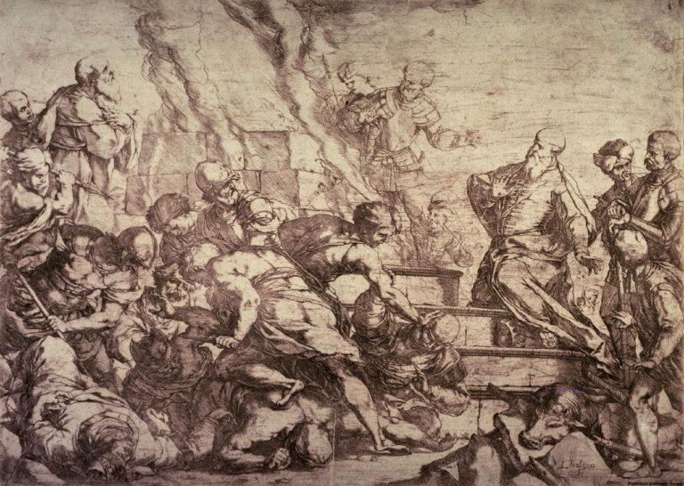 Жертвенный поединок пророка Илии и пророков Ваала. 1650–1660