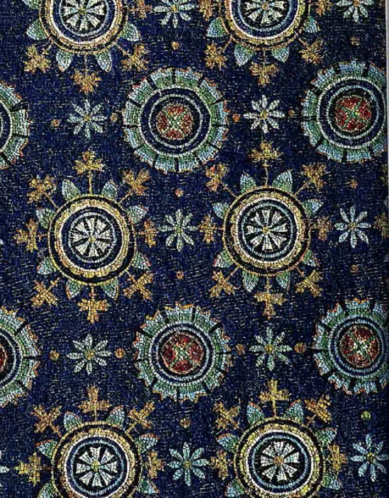 Звезды и цветы на плафоне мавзолея Галлы Плацидии. V в. Равенна