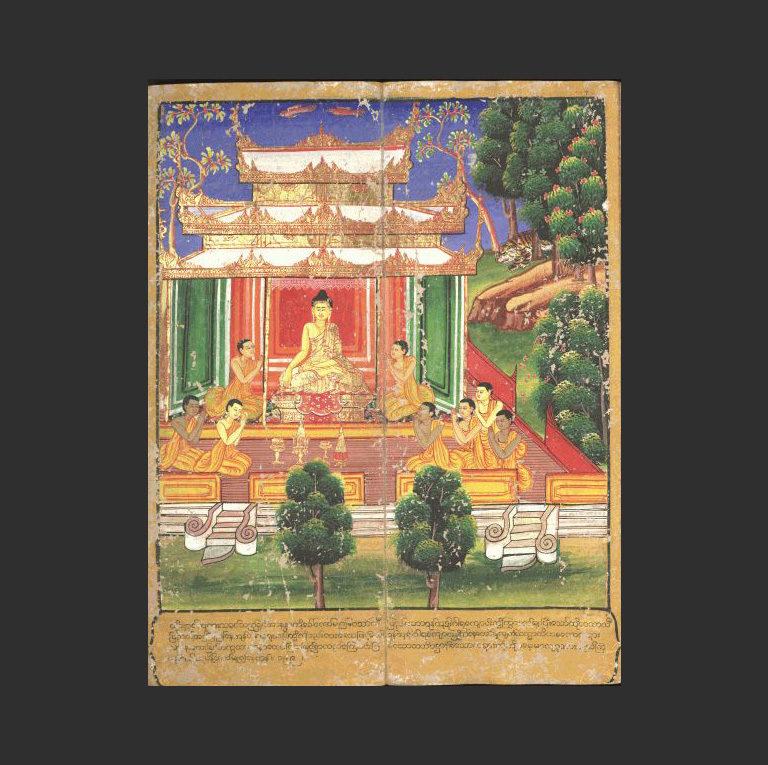 Будда в окружении последователей. XVIII в.