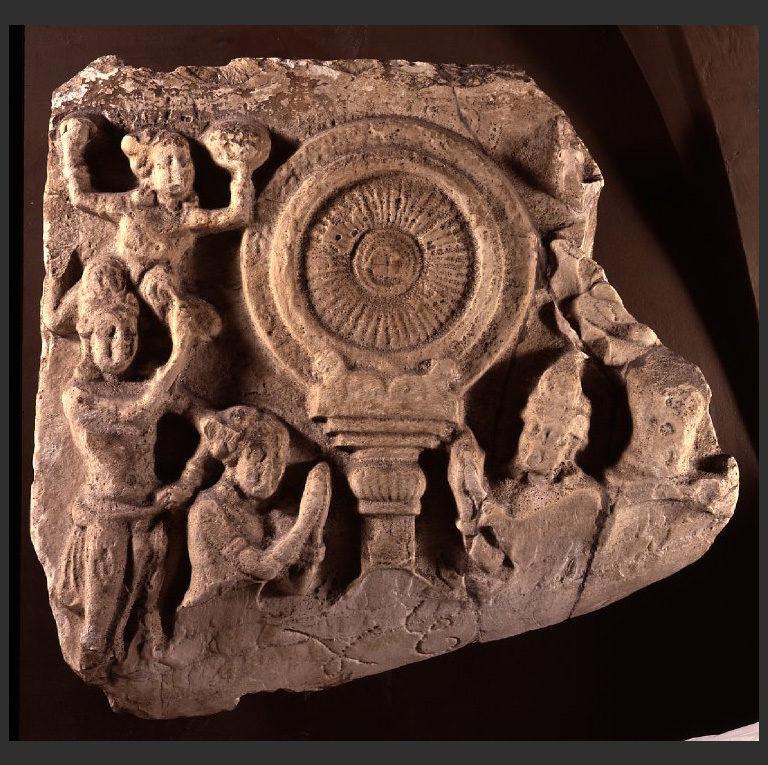 Фрагмент первой проповеди Будды. II в.