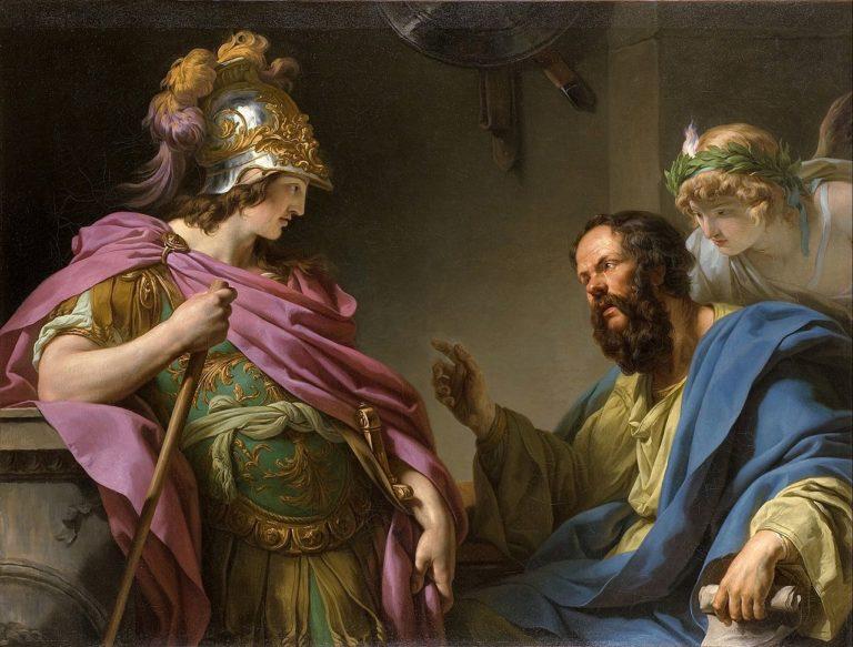 Алкивиад поучаемый Сократом. 1776