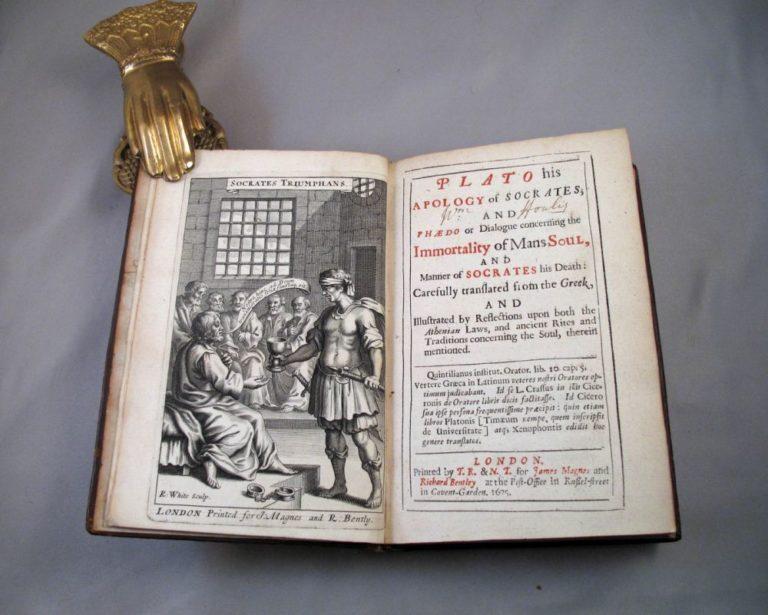 Английское издание Апологии Сократа и диалогов Платона. Лондон, 1675