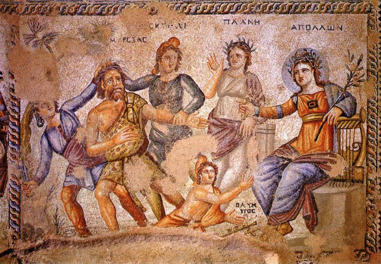 Аполлон и Марсий. Середина IV века н.э.