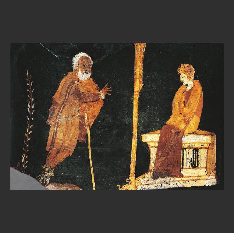 Аполлон и Пифия. IV в. до н.э.