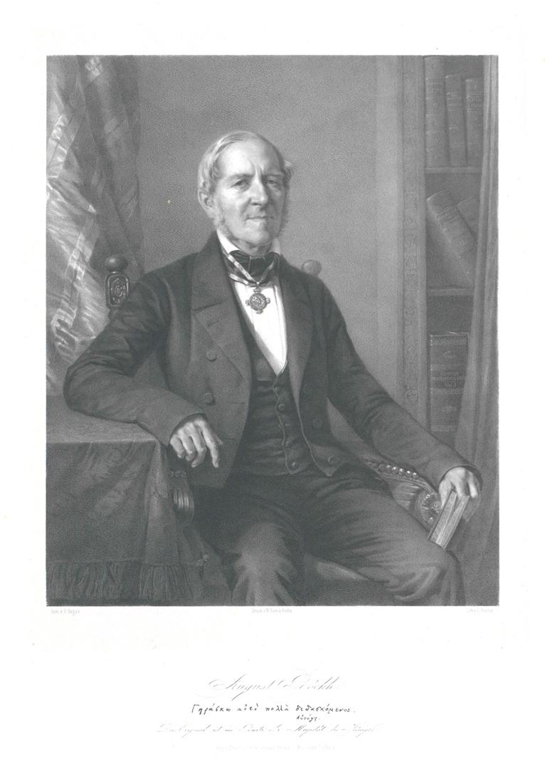 Август Бёк. 1850 г.