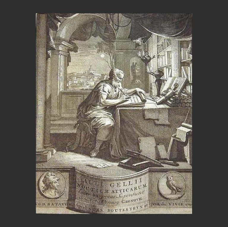 Авл Геллий. Аттические ночи. 1706 г.