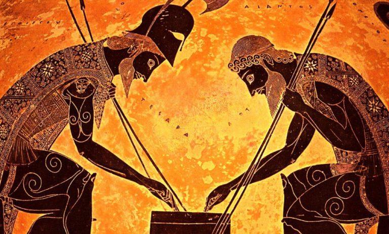 Аякс и Ахилл играют в кости. Ок. 530 до н. э.