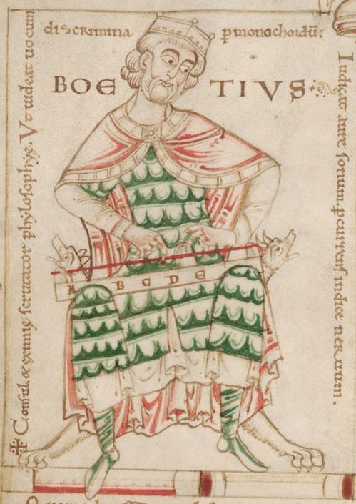 Боэций с монохордом. Ок. 1150 г.