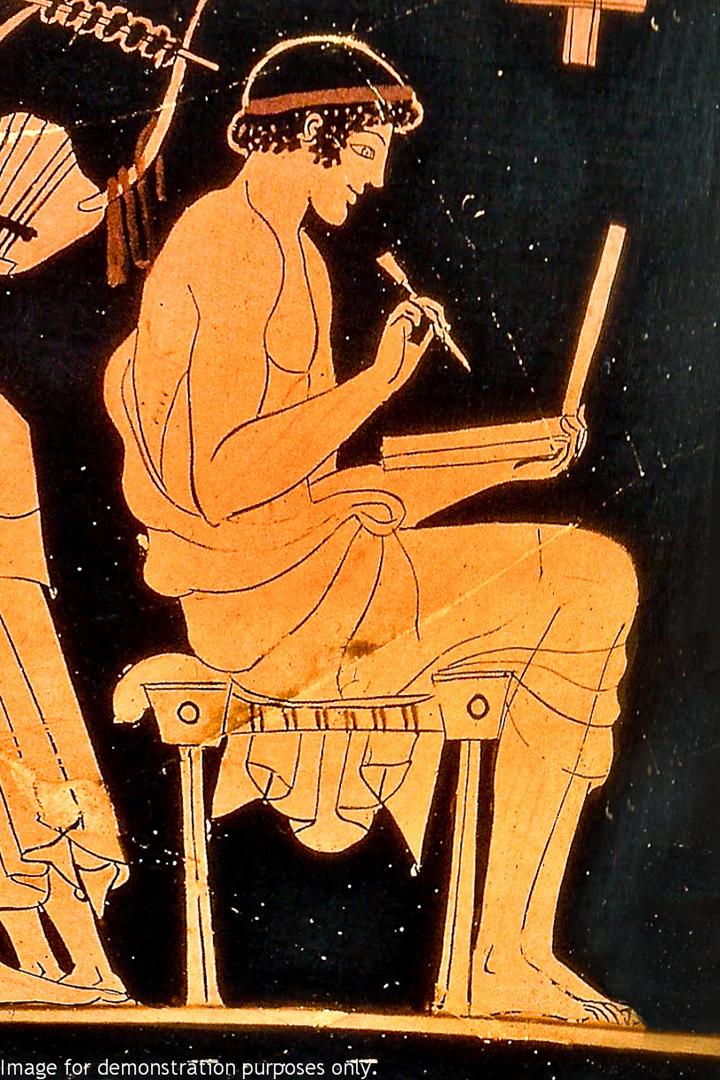 Человек с восковой дощечкой. V век до н.э. Мастер Дурис. Берлинский музей