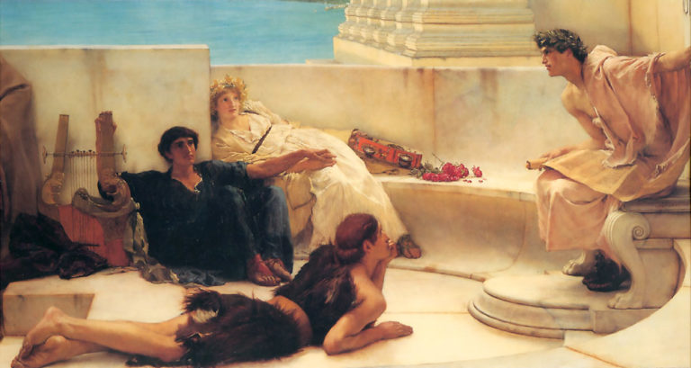 Чтение Гомера. 1885