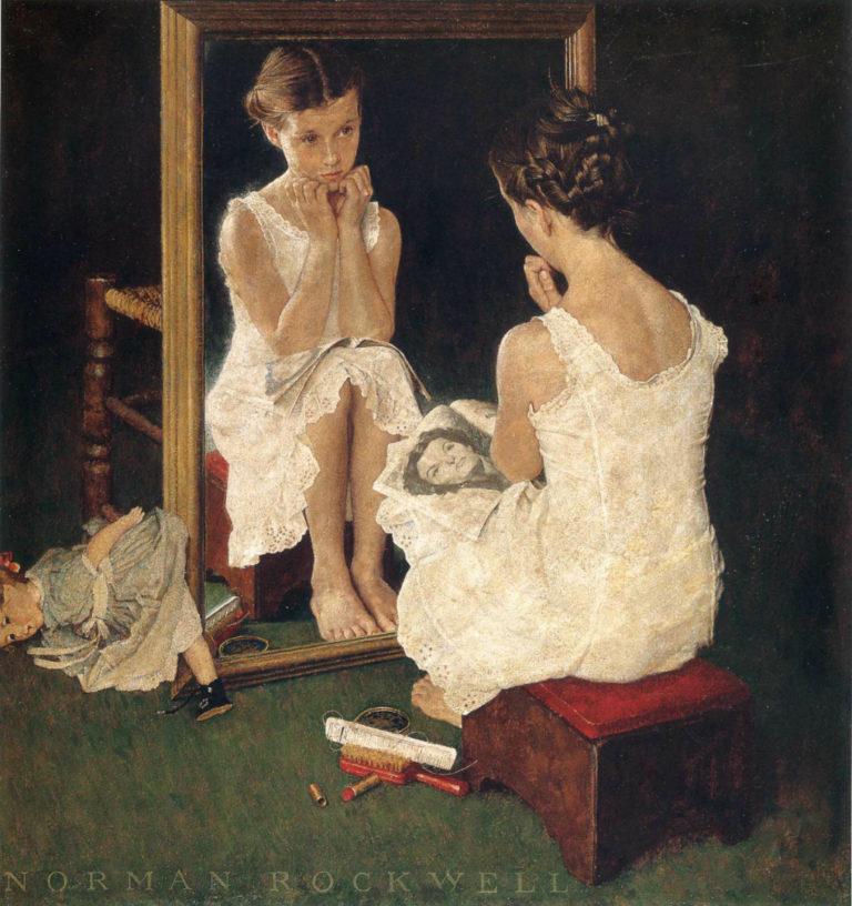 Девочка у зеркала. 1954