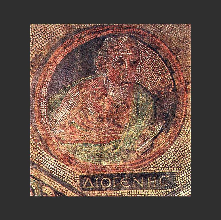 Диоген Синопский в пифосе. II-III вв. н.э.