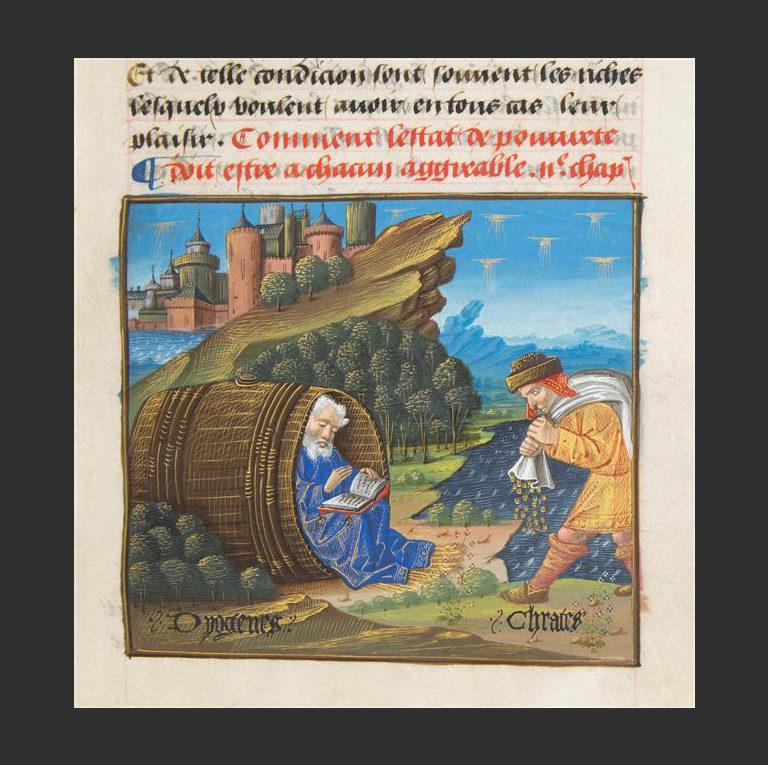 Диоген и Кратет Фиванский. Ок. 1490