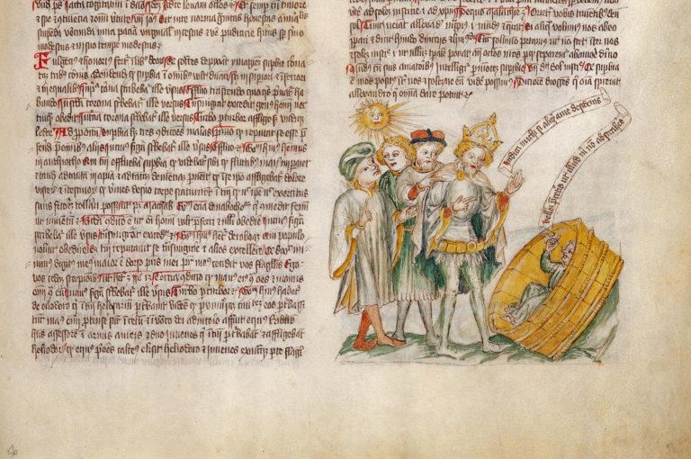 Диоген указывает Александру