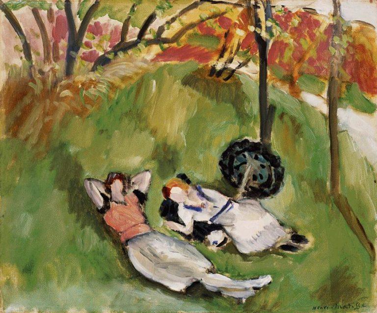 Две лежащие фигуры в пейзаже. 1921