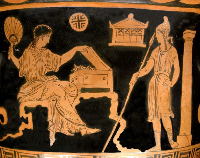 Елена и Парис. Ок. 380-370 гг. до н.э.
