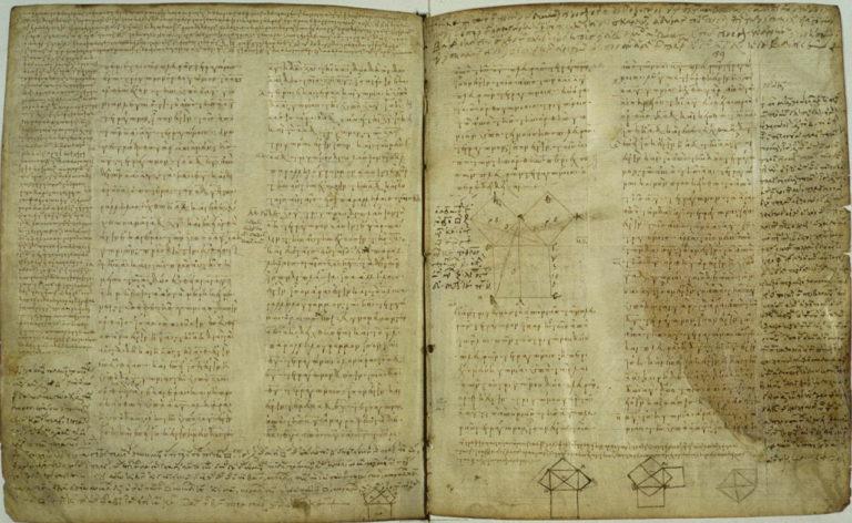 Евклид. Теорема Пифагора. Ок. IX в.
