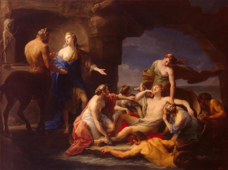 Фетида забирает Ахилла у кентавра Хирона. 1768–1770