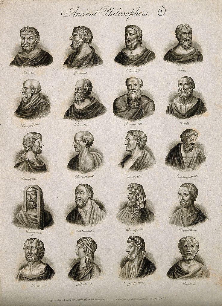 Философы, 20 портретов классических мыслителей. 1825 г.