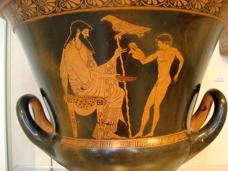 Ганимед наливает Зевсу вина. Ок. 490-480 до н.э.