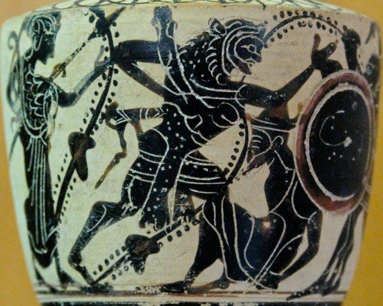 Геракл сражается с Герионом