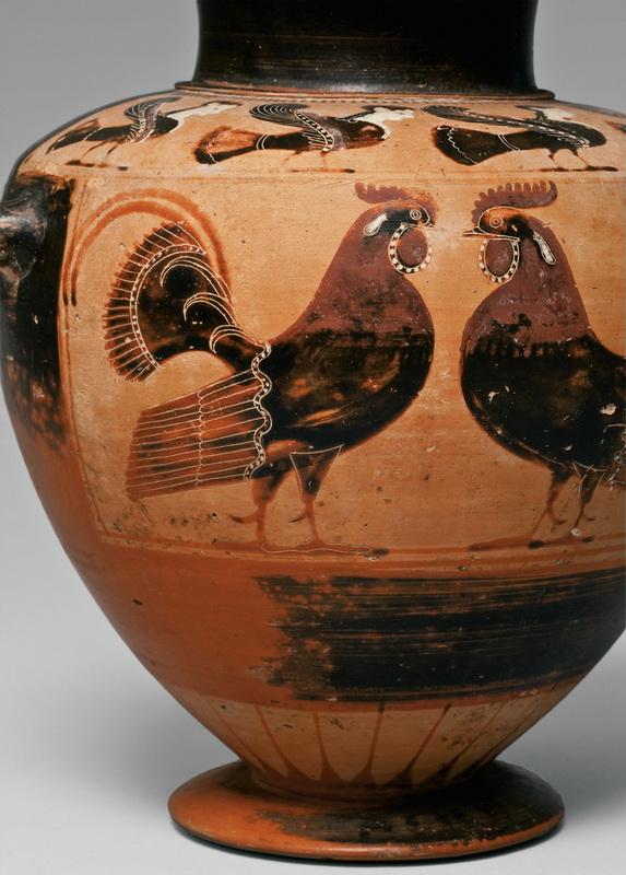 Гидрия с изображением петухов и сирен. Третья четверть VI в. до н.э.